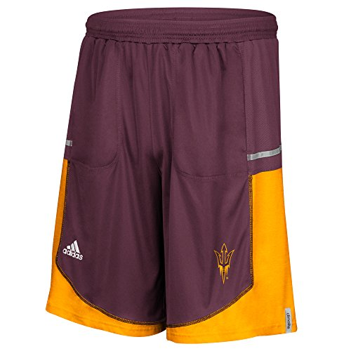 NCAA Arizona State Sun Devils Men's Sideline Player Shorts with Pockets, X-Large, Maroon