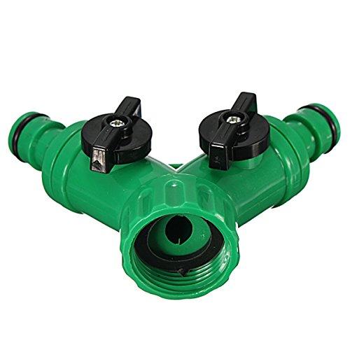 Ac2Shop Screw Hose Pipe Splitter 2 way Connector Adaptor Garden Tool Quick