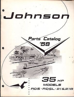D MOTOR 35 HP PARTS CATALOG MANUAL P/N 377809 (169) (Hp Parts Catalog Manual)