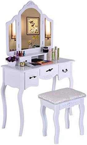Makeup Table Set Vanity Beauty Station Dressing Tables