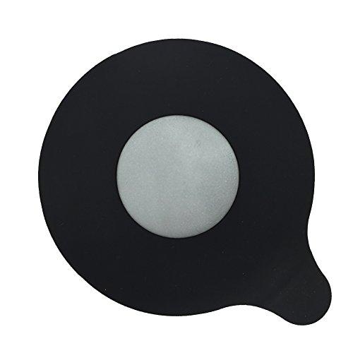 MIBOW Bath Tub Drain Stopper, Tub Stopper Drain Plug Cover For Bathtub, Floor Drain and Kitchen Sink,Universal Size Fit,Silicone,Black