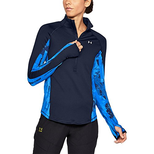 Under Armour ColdGear Armour Printed ½ Zip MD Midnight Navy by Under Armour (Image #1)