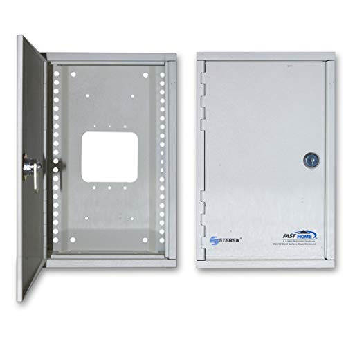 GOWOS Media Cabinet, Surface Mount Enclosure, Dimensions: 7 (W) x 11 (H) x 3 5/16 (D) inches ()