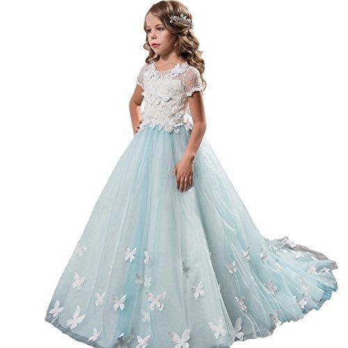 c8c95f50d6 Fancy Girls Pageant Light Blue Dresses 0-12 Year Old L Size 2