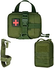 IronSeals Tactical Molle Medical Pouch Bottle Holder Utility Pouch for Dog Vest