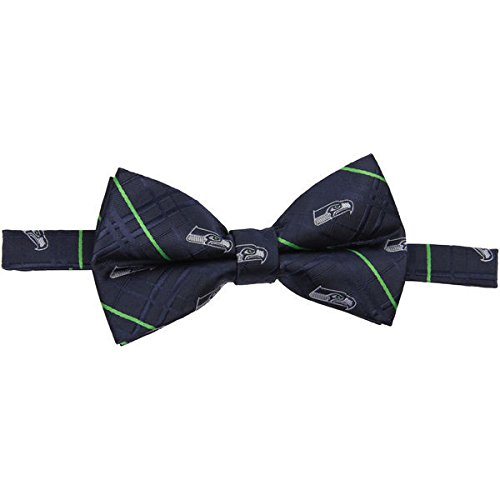 NFL Seattle Seahawks Men's Woven Polyester Oxford Bowtie, One Size, Multicolor