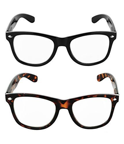 SunnyPro 2 Non Prescription Eyeglasses Clear Lens For Women And Men UV - Guys For Eyeglasses
