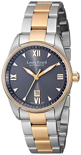 Louis-Erard-Womens-20100AB23BMA20-Heritage-Automatic-Grey-Dial-Steel-and-Rose-Gold-PVD-Watch