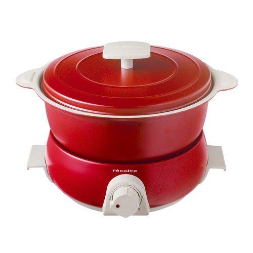 レコルト ポットデュオ フェット [ レッド / RPD-3 ] recolte POT DUO fete 電気鍋 マルチクッカー B01M4IKKSJ