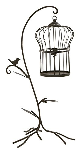 Deco 79 58544 Metal Bird Cage Stand Sculpture, 12