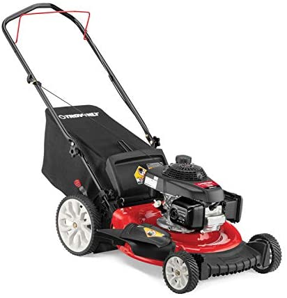 Amazon Com Troy Bilt Tb160 21 In 160 Cc Gas Walk Behind Push Mower With High Rear Wheels And 3 In 1 Cutting Triaction Cutting System Garden Outdoor