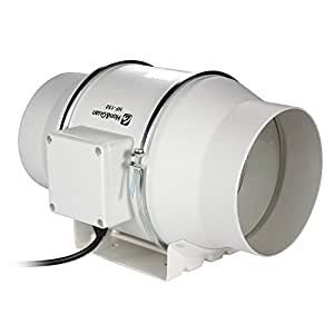 Hon&Guan 6 Inch Inline Duct Fan Exhaust Fan Mixed Flow ...