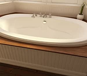Neptune Felicia Oval Whirlpool Bath Tub 72 X 38 X 22 Fe72t Biscuit Drop In Bathtubs