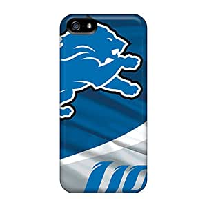 Iphone 5/5s Fnz18236cnZk Custom Beautiful Detroit Lions Skin Protective Cell-phone Hard Covers -ChristopherWalsh