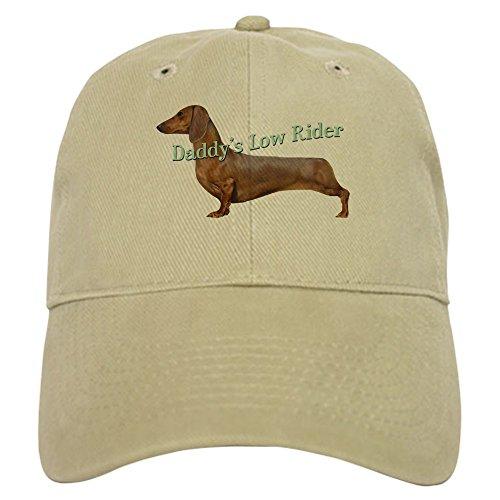 CafePress Dachshund Daddy's Low Rider Cap Baseball Cap with Adjustable Closure, Unique Printed Baseball Hat Khaki ()