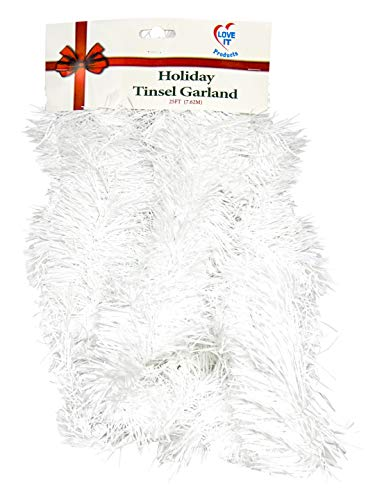 Tinsel Garland 25 ft, Perfect for Christmas, New Year