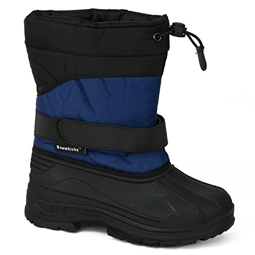 Snowkicks Cold Weather Kids Childrens Snow Boots Unisex (6 M US Toddler, Grey) by Snowkicks