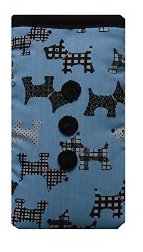 Cute Pale Blue Dogs Print Apple iPhone 5 or 5c or 5s sock / Case / Cover / Pouch