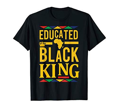 Dashiki Educated Black KING Shirt - African DNA Pride Shirt