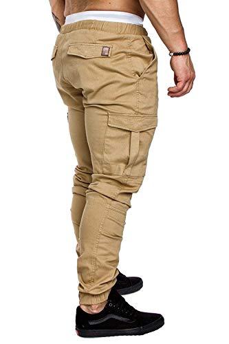 D'été Hommes Dentelle Vêtements Pliant Plusieurs Kaki Couleur Tight Avec Solide Mode Pantalon Cargo qwB6IERI