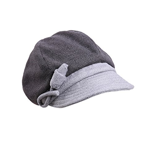 autumn and winter hat/Lady Joker warm fashion winter hat/Beret-gray adjustable