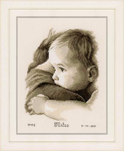 "Vervaco Baby Hug On Aida (14 Counted Cross Stitch Kit 8.75""X11.25"""
