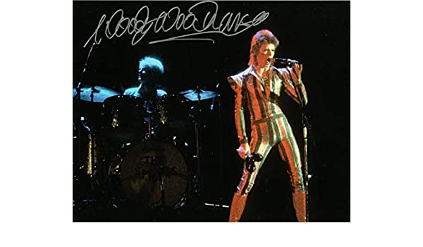 WOODY WOODMANSEY SIGNED DAVID BOWIE PHOTO PHOTOGRAPH NOT LP VINYL IN PERSON!
