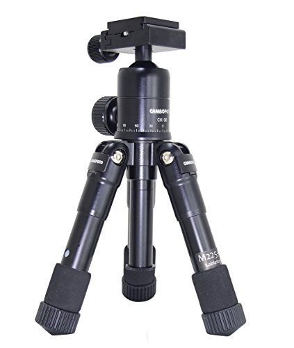 TaiChuDa Mini Folding Camera Tripod Aluminum Alloy Desktop Tripod Mini Tripod Portable Compact Tripod with 360 Degree Ball Head-Black