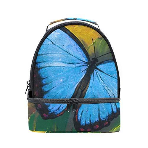 Alinlo Papillon Huile comprenant Boîte à lunch Sac isotherme Cooler Tote avec bandoulière réglable pour Pincnic à l'école