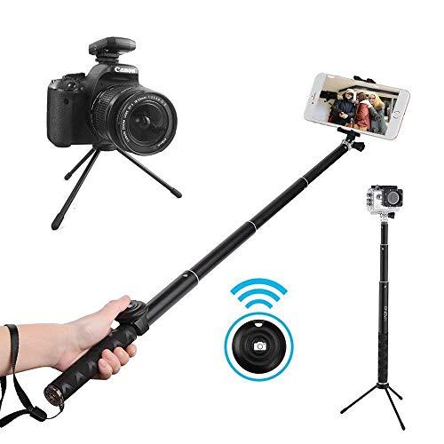 Selfie Stick Remote and Tripod, Portable Rain-Proof Monopod for GoPro, iPhone 7/7 Plus/6 Plus/6S Plus Samsung Galaxy Series, DSLR