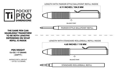 BIG IDEA DESIGN Ti Pocket Pro : The Auto Adjusting EDC Pen (Antique Black) by BIG IDEA DESIGN (Image #3)