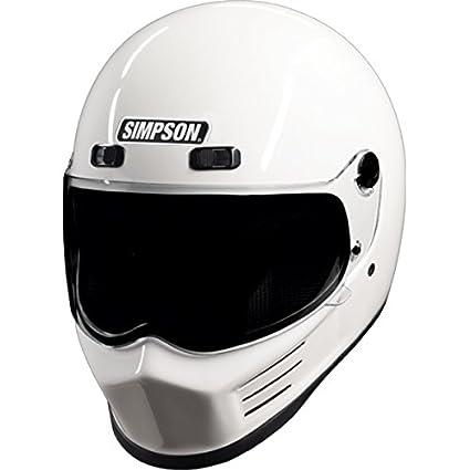 e1ab677f Amazon.com: Simpson MSB15L1 Street Bandit Motorcycle Helmet (Large White):  Automotive