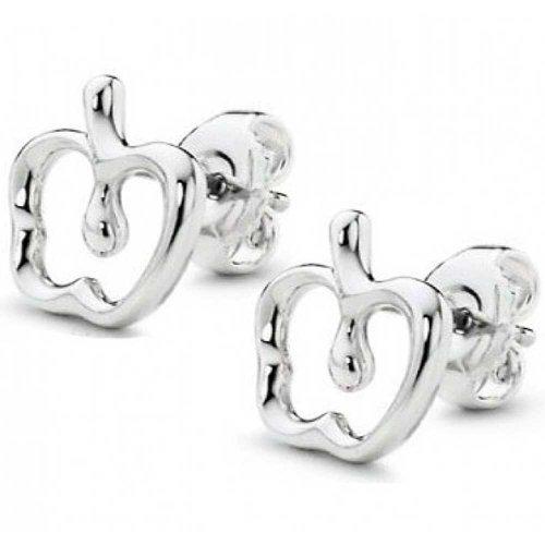Bling Jewelry Boucles d'oreille en forme de Pomme en argent