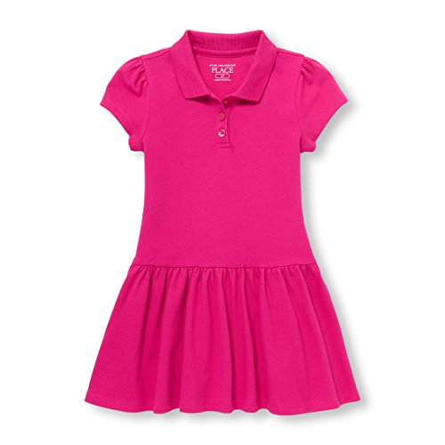 Baby Girl Polo Dress - The Children's Place Baby Girls Uniform Short Sleeve Polo Dress, Aurora Pink 97034, 2T