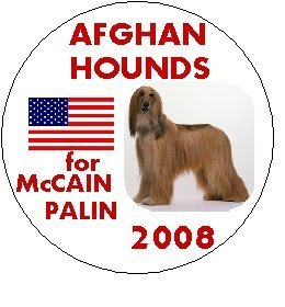 AFGHAN HOUNDS for McCAIN / PALIN 2008 Political Pinback Button 1.25