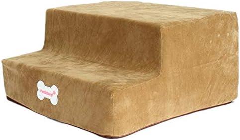 LXLA Escaleras para Mascotas para Perros y Gatos - Escaleras para Perros de 2 escalones para Cama y sofá, Lavables extraíbles, soporta hasta 20 Libras (Color : Khaki): Amazon.es: Hogar