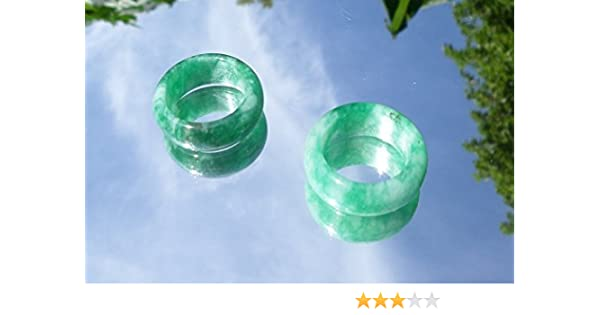 3bd0091635f19 Chinese Light Green Jade Rings - Size 8