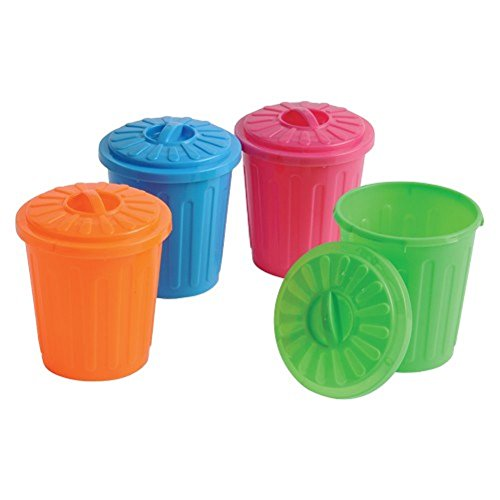 Assorted Color Garbage Can Holder Containers (12)