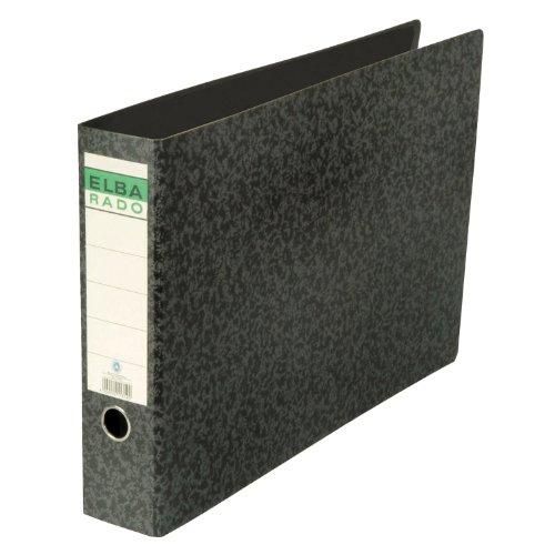 Elba 100202078 Ordner rado (A3 quer, Rückenbreite 5,5 cm, aufgeklebtem Rückenschild), schwarz