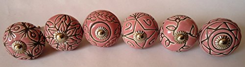 Hand Carved Ceramic - Zoya's Colorfull Hand Carved Ceramic Knobs Handmade Ceramic Door Knobs Kitchen Cabinet Drawer Pull Kid's Bedroom Knobs by Zoya's