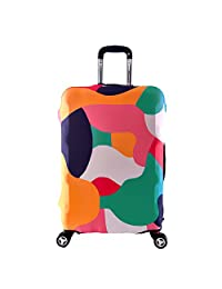Artone Colorful Block Washable Spandex Travel Luggage Protector Baggage Suitcase Cover Fit 22-24 Inch Luggage