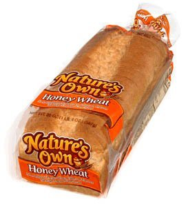 NATURES OWN BREAD HONEY WHEAT 20 OZ