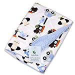 Genio-Baby-Sherpa-Fleece-Baby-Blanket-Unisex-30-x-40-Soft-Perfect-for-Swaddling-and-Strolling-Fluffy-for-Boys-and-Girls-Light-Blue
