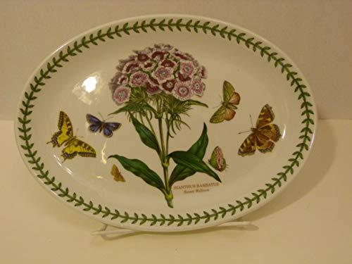 Portmeirion Sweet William/Dianthus Barbatus Vintage 10.5 Inch Steak Platter Plate Made in England ()