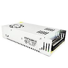 LETOUR 12V 30A DC Power Supply 360W AC 110V/220V Converter DC 12Volt 30Amp 360Watt Adapter LED Power Supply for LED Lighting,LED Strip,CCTV