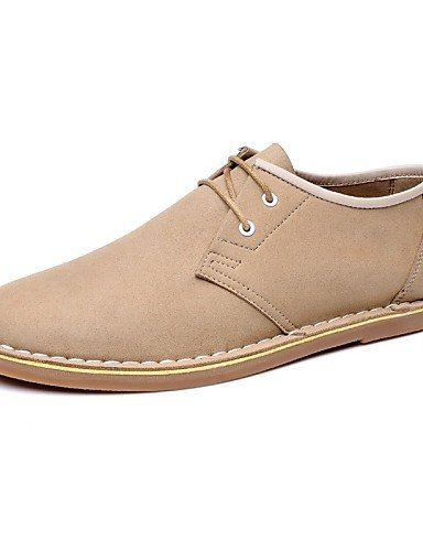 Ei&iLI Zapatos de Hombre Oxfords Casual Poliéster Marrón / Beige , beige-us9.5 / eu42 / uk8.5 / cn43 , beige-us9.5 / eu42 / uk8.5 / cn43 beige-us9.5 / eu42 / uk8.5 / cn43