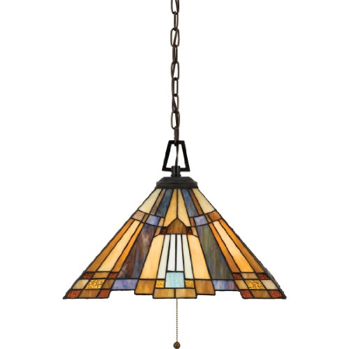 "Quoizel TFIK1817VA Inglenook Cone Glass Pendant Lighting, 3-Light, 300 Watts, Valiant Bronze (13"" H x 17"" W) from Quoizel"