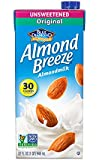 Almond Breeze Almond Milk, Unsweetened Original, 32 Ounce (Pack of 6)