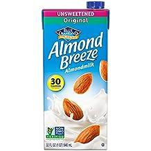 Almond Breeze Almond Milk, Unsweetened Original, 32 Ounce (Pack of 6)