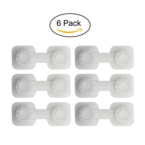 NuAngela Baby Proofing Safety Locks for Drawers & Cabinets – Adhesive, No-Damage, Easy Install Locking Safety Latches – DIY Child Proof House Kit (Lazy Susan Cabinet Lock)
